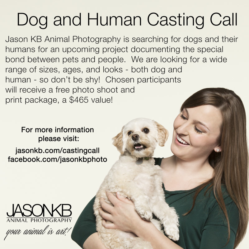 Put your best paw forward for casting call for dogs and their humans.