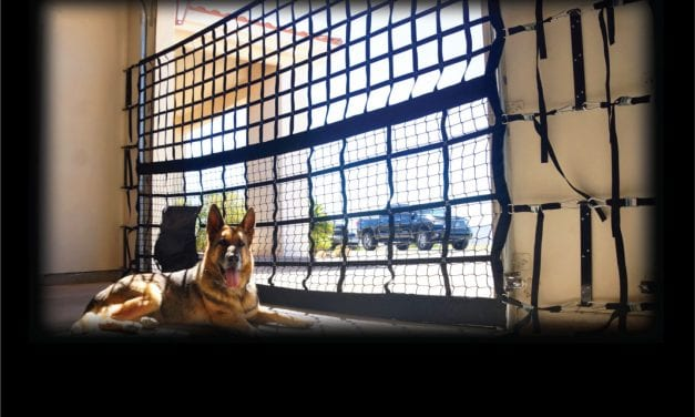 Product News:The K9 Garage Door Kennel Net Turns Any Garage Into A Safe  And Secure Outdoor Area For Dogs