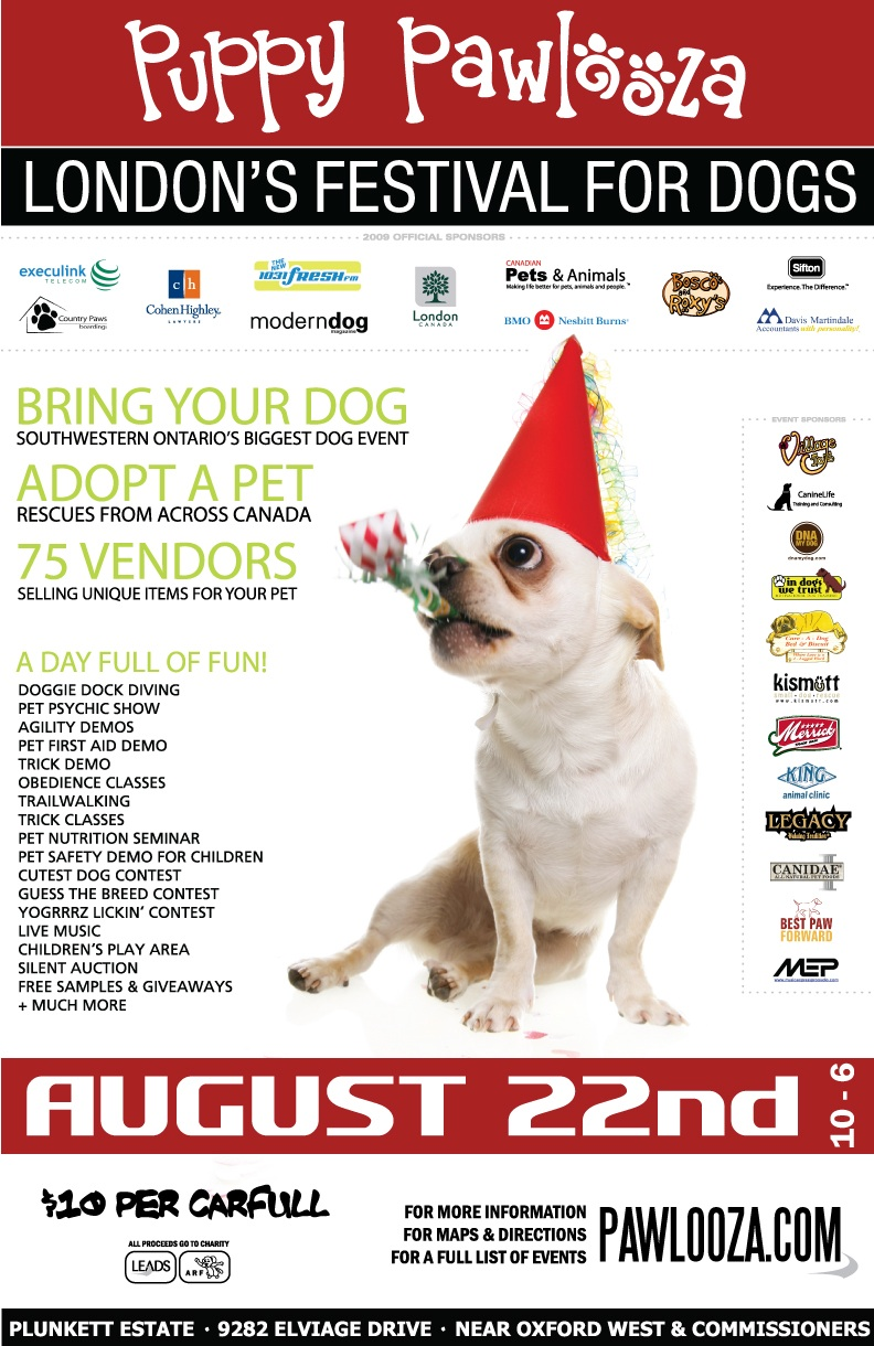 Puppy Pawlooza August 22nd